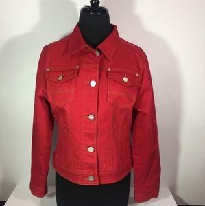 CAbi Red Denim Jacket M #606